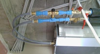 Climatización 5 fancoils para frio, y suelo radiante para calor