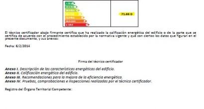 Certificación energética de edificio público