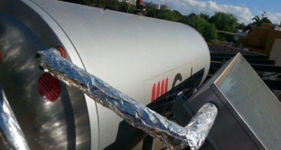 Instalación Solar Térmica,3 termosifones, 200 litros