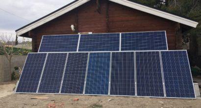 Instalación Solar Fotovoltaica Aislada con apoyo de grupo electrogeno de gasolina