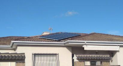 Instalación Solar para alimentar bomba extractora y aislada