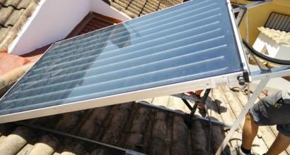 Instalación de Solar Termosifónico 200 litros, fab. Grecia