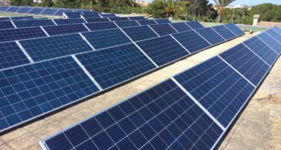 Instalación Solar Fotovoltaica Conectada a Red para Abastecimiento edificio de oficinas