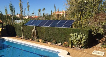 Bombeo Solar para Piscina Riego (excedente para vivienda)