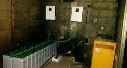 Ampliación de Instalación Solar Fotovoltaica, inversor-cargador 5kVA paralelo, baterias 28 kwh