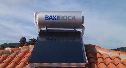 Instalación de termosifón ROCA de 150 litros y equipo de apoyo