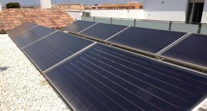 Instalación solar térmica en Hostal, para ACS